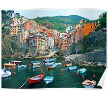 Italy. Cinque Terre marina  Poster