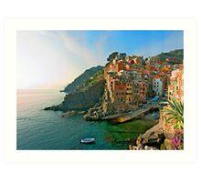 Italy. Cinque Terre - canals Art Print