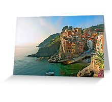 Italy. Cinque Terre - canals Greeting Card