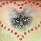 Valentine Cat by Carol Bleasdale