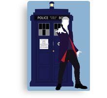 Twelve and the TARDIS Canvas Print