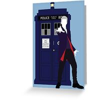 Twelve and the TARDIS Greeting Card