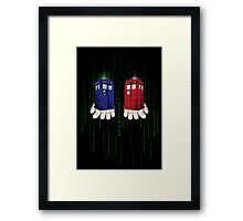 Take The Blue Box Framed Print