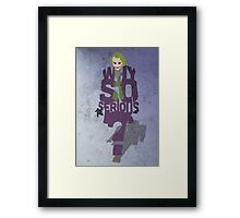 Joker from The Dark Knight Typography Simple Design of His Quote Framed Print