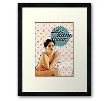 Irene Adler Valentine's Day Card Framed Print