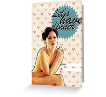 Irene Adler Valentine's Day Card Greeting Card