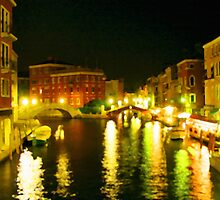 Italy. Venice Night lights by JessicaRoss