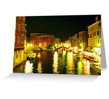 Italy. Venice Night lights Greeting Card