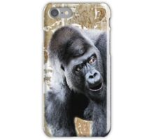 Say What Surprised Gorilla iPhone Case/Skin