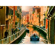 Italy. Venice Silent path Photographic Print