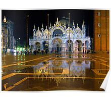 Italy. Venice at night Poster