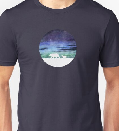 Aurora borealis and polar bears (light version) Unisex T-Shirt