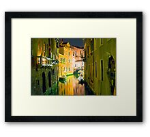 Italy. Venice in yellow Framed Print
