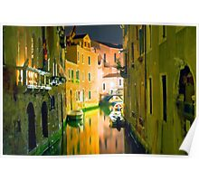Italy. Venice in yellow Poster