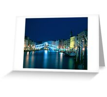 Italy. Venice in blue Greeting Card