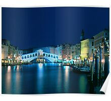 Italy. Venice in blue Poster