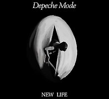 "Depeche Mode : New Life 7"" Paint by Luc Lambert"