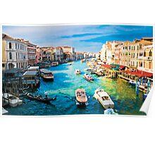 Italy. Venice Boat way Poster