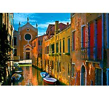 Italy. Venice motorway Photographic Print