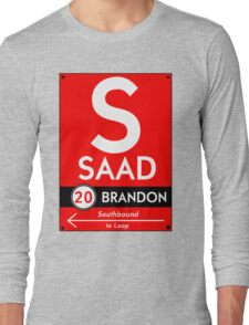 Retro CTA sign Saad Long Sleeve T-Shirt