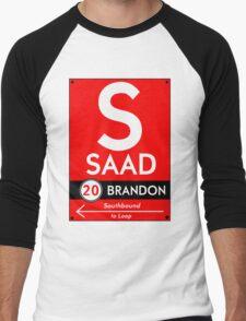 Retro CTA sign Saad Men's Baseball ¾ T-Shirt