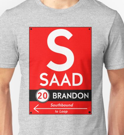 Retro CTA sign Saad Unisex T-Shirt