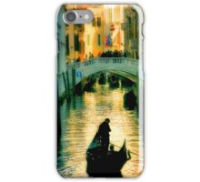 Italy. Venice lonely boatman iPhone Case/Skin