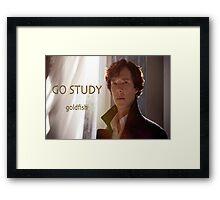Go Study-Sherlock Holmes v3 Framed Print