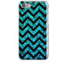 Chevron Aqua Sparkle iPhone Case/Skin