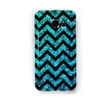 Chevron Aqua Sparkle Samsung Galaxy Case/Skin