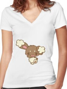 Cute Buneary Women's Fitted V-Neck T-Shirt