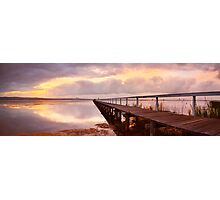 Long Jetty Sunset, New South Wales, Australia Photographic Print