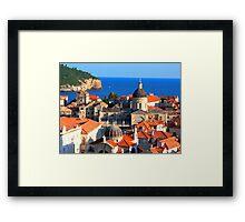 Croatia Downtown Framed Print