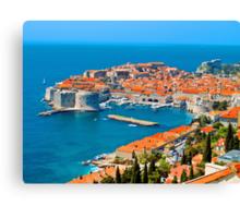 Croatia Harbor  Canvas Print