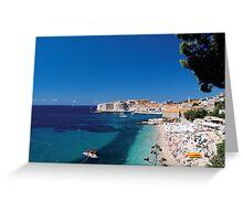 Croatia by the Beach Greeting Card