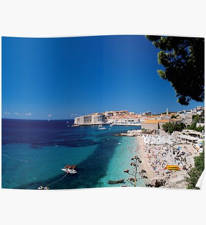 Croatia by the Beach Poster