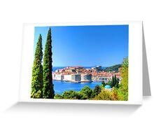 Croatia Treescape Greeting Card