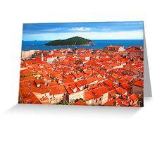 Croatia Rooftops Greeting Card