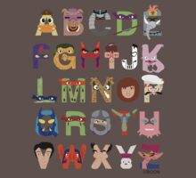 Teenage Mutant Ninja Turtle Alphabet Baby Tee