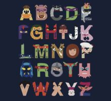 Teenage Mutant Ninja Turtle Alphabet One Piece - Long Sleeve