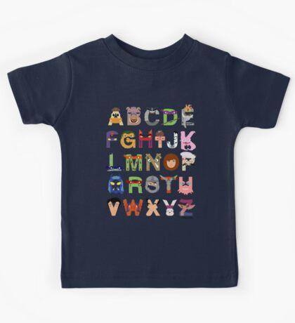 Teenage Mutant Ninja Turtle Alphabet Kids Tee