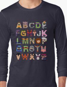 Teenage Mutant Ninja Turtle Alphabet Long Sleeve T-Shirt