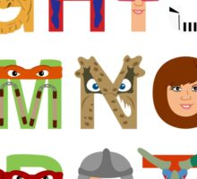 Teenage Mutant Ninja Turtle Alphabet Sticker