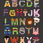 Teenage Mutant Ninja Turtle Alphabet by Mike Boon