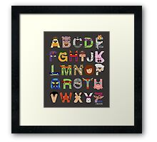 Teenage Mutant Ninja Turtle Alphabet Framed Print