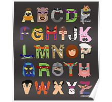 Teenage Mutant Ninja Turtle Alphabet Poster
