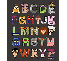 Teenage Mutant Ninja Turtle Alphabet Photographic Print