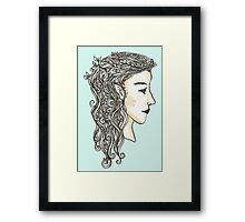 Elven lady Framed Print
