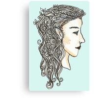 Elven lady Canvas Print