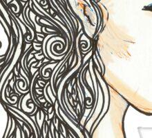 Elven lady Sticker